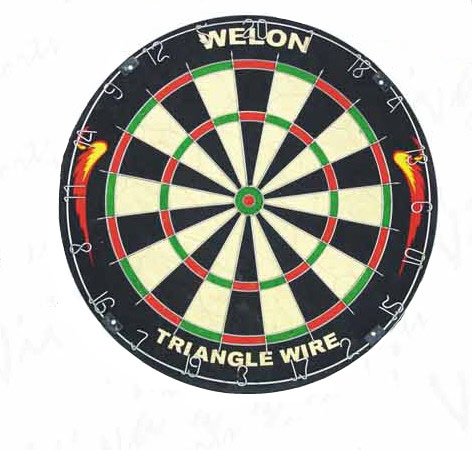 18*1-1/2 Bristle Triangle Wire Dartboard